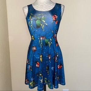 Cow Cow Novelty Print Blue Beetle bug print dress
